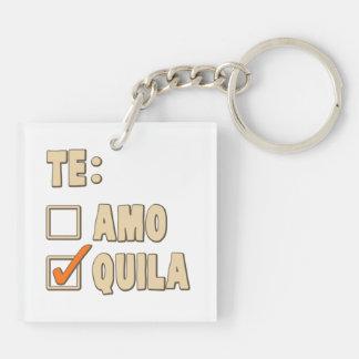 Te Amo Tequila Spanish Choice Key Ring