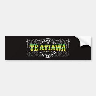 Te Ataiawa Lifer Moko Chrome Bumper Sticker