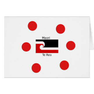 Te Reo Language And Maori Flag Design Card