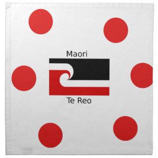 Te Reo Language And Maori Flag Design Napkin