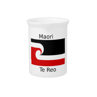 Te Reo Language And Maori Flag Design Pitcher