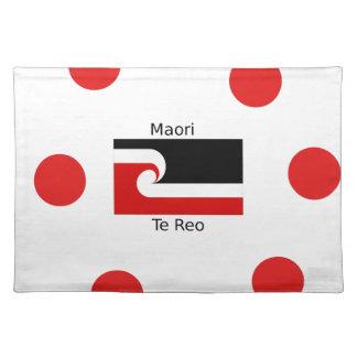 Te Reo Language And Maori Flag Design Placemat