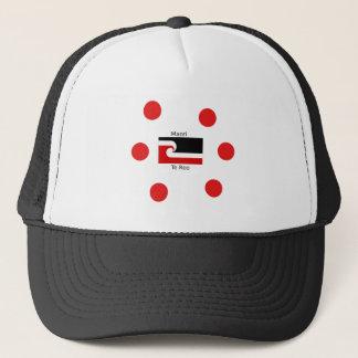 Te Reo Language And Maori Flag Design Trucker Hat