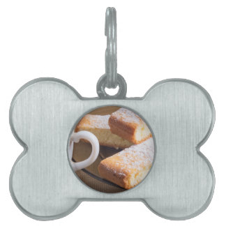Tea and a plate of fresh biscuits pet name tag