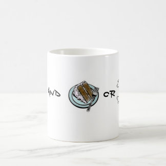 Tea and Cake or Death? Basic White Mug