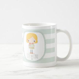 Tea and cake striped mug design