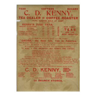 Tea and Coffee ad 1943 Poster