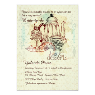 Tea and Desserts Invitation