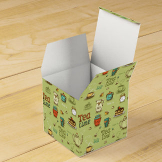 Tea and Honey Tea Time in Green Favour Box