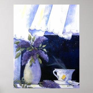 Tea and Lilacs Poster