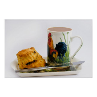 Tea and Scone Kitchen Poster