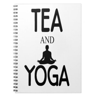 Tea And Yoga Spiral Notebook