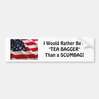 TEA BAGGER Bumper Sticker