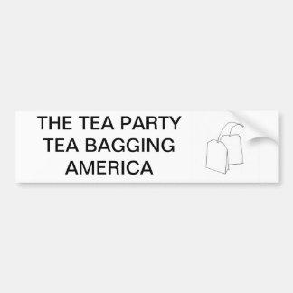 TEA BAGS BUMPER STICKER