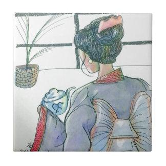 Tea Ceremonial Ceramic Tile