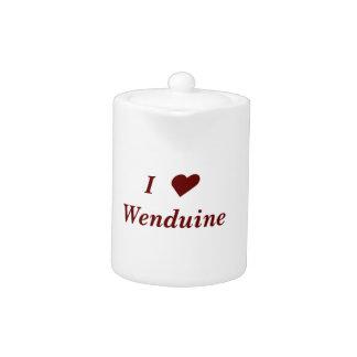 tea chamber pot I ♥ Wenduine (with weapon shield)