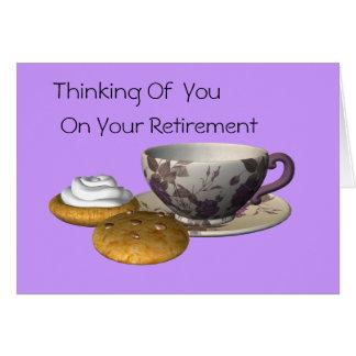 Tea & Cookies Retirement Card