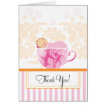 Tea Cup Baby Shower Thank You Card
