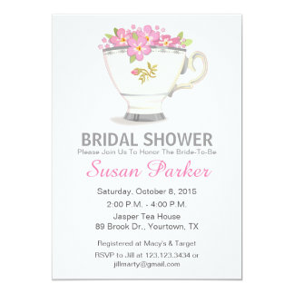 Tea Cup Bridal Shower Invitation