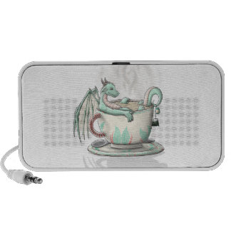 Tea Cup Dragons: Peppermint (Clear) Travelling Speakers