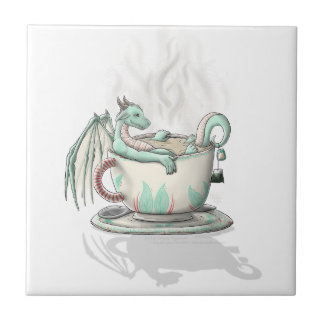 Tea Cup Dragons: Peppermint (Clear) Tile