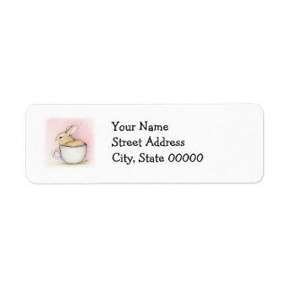 Tea Cup Return Address Label