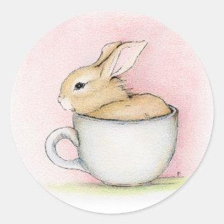 Tea Cup Round Sticker