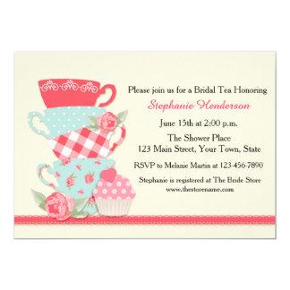 Tea Cups and Roses, Bridal Tea Card
