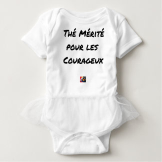 TEA DESERVED FOR the COURAGEOUS ones - Word games Baby Bodysuit
