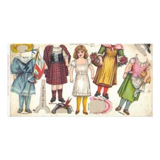 Tea Dolls Custom Photo Card