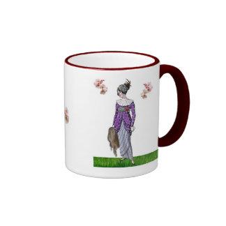 Tea Dress & Cherry Blossoms Ringer Mug