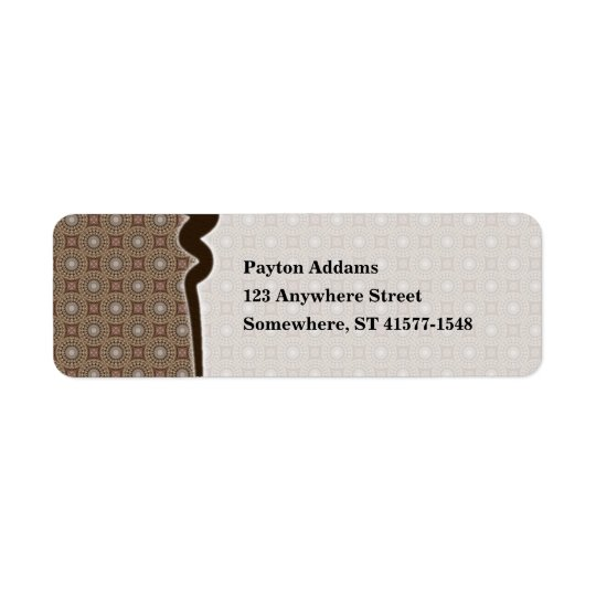 Tea Dyed Pattern 1 • Avery Label
