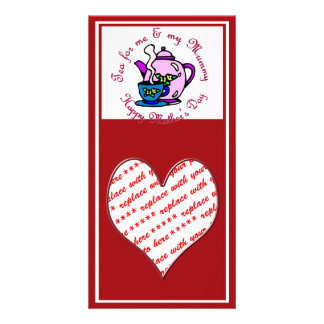 Tea For Me & My Mummy on Mother's Day Photo Card Template