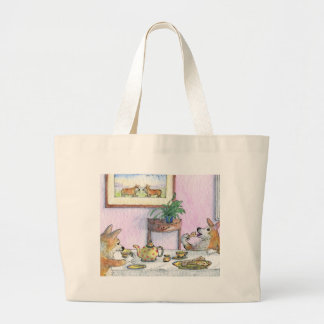 Tea for two large tote bag