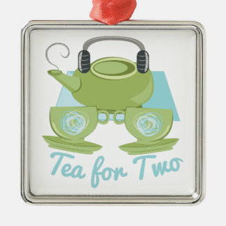Tea For Two Metal Ornament