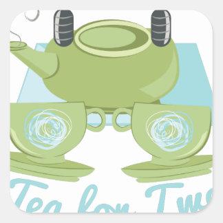 Tea For Two Square Sticker