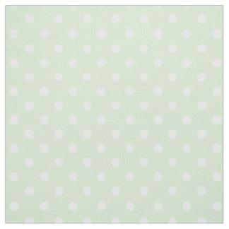 Tea Green Polka Dot Pattern Fabric