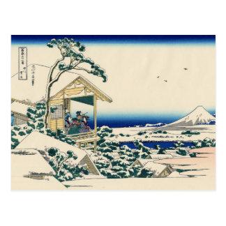 Tea house at Koishikawa (by Hokusai) Postcard