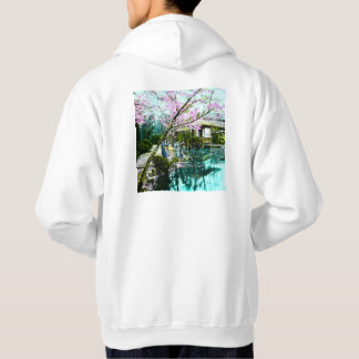 Tea House Geisha in Fugetsu Gardens of Old Japan Hooded Sweatshirts