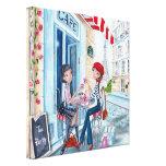 Tea in Paris - Canvas Stretched Canvas Prints