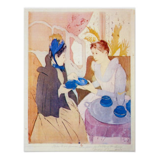 Tea in the afternoon by Mary Stevenson Cassatt Poster