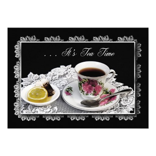 TEA INVITATION - TEA TIME INVITATION