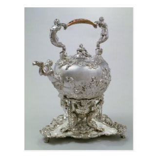 Tea kettle and stand by C.Kandler, London, 1730 Postcard