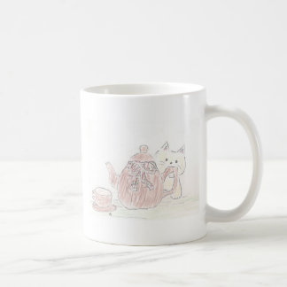 Tea Kettle Kitten Coffee Mug