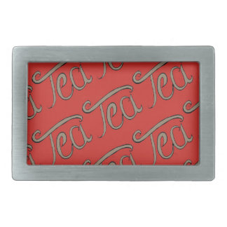 Tea lover rectangular belt buckles