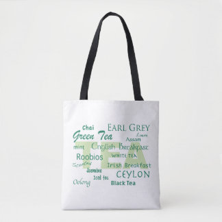 Tea Lover-Text Design Tote Bag