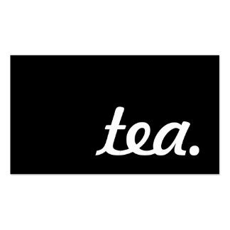 tea. loyalty punch card pack of standard business cards