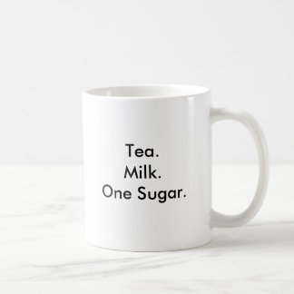 Tea.Milk.One Sugar. Coffee Mug