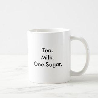 Tea.Milk.One Sugar. Coffee Mug