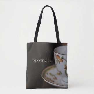 Tea on Chocolate Tote - tspoetry.com